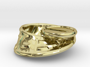 Moby Maze - metal in 18K Gold Plated