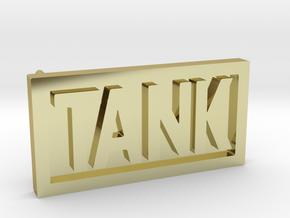 TANK belt buckle in 18K Gold Plated