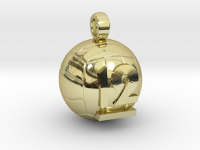 Volleyball Pendant  #12  in 18K Gold Plated