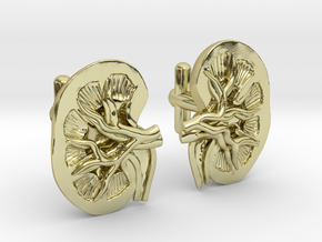 Anatomical Kidney Cufflinks in 18K Gold Plated