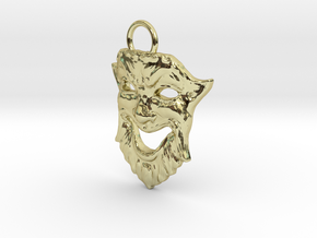 Laughing Greek Mask Pendant 1.5inches in 18K Gold Plated