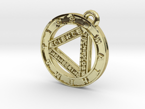 STEM Circle Pendant in 18K Gold Plated
