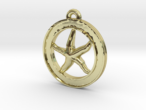 Starfish Circle-pendant in 18K Gold Plated