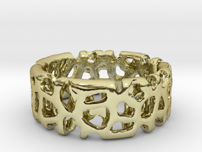 Voronoi Ultimate Man Ring in 18K Gold Plated