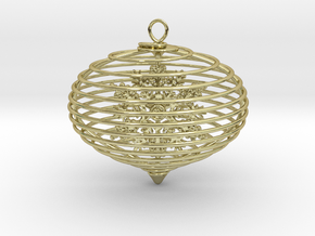 Spiral christmas ball with snowflake in 18K Gold Plated