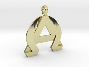 AlphaOmega Pendant in 18K Gold Plated
