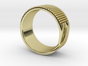 Rift Ring - EU Size 63 in 18K Gold Plated