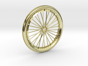Bicycle wheel miniature in 18K Gold Plated