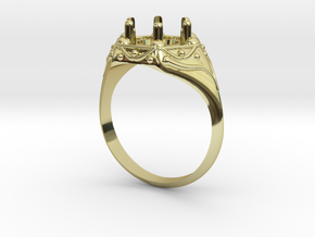 Signet Ring size 7 in 18K Gold Plated