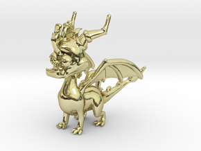 Spyro the Dragon Pendant/charm in 18K Gold Plated