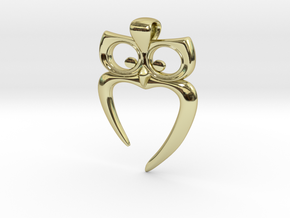 Owl Heart Pendant in 18K Gold Plated