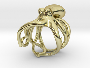 Octopus Ring 18mm in 18K Gold Plated