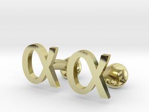 Alpha Cufflinks in 18K Gold Plated