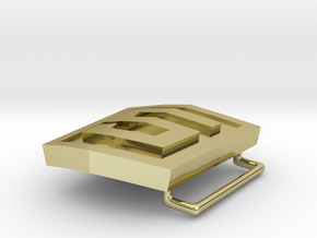 HTML5 Belt Buckle in 18K Gold Plated