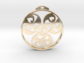 Triskele Pendant / Earring in 14k Gold Plated Brass