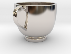 Turkish Coffee Cup in Rhodium Plated Brass