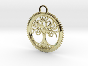 Tree Pendant in 18K Gold Plated