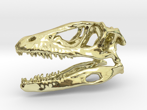Mini Raptor Dinosaur Skull in 18K Gold Plated