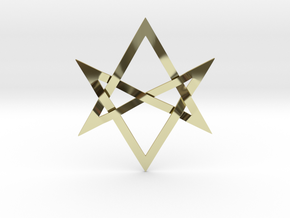 Large Unicursal Hexagram in 18K Gold Plated