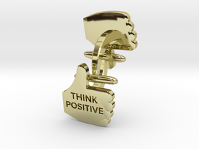 Thumbs Up think positive Cufflink in 18K Gold Plated