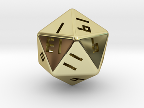Hollow D20 v1 in 18K Gold Plated