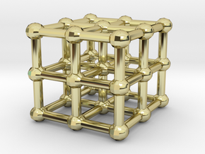 cube matrix in 18K Gold Plated