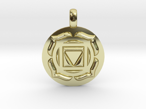BASE ROOT Chakra Muladhara Symbol Pendant in 18K Gold Plated