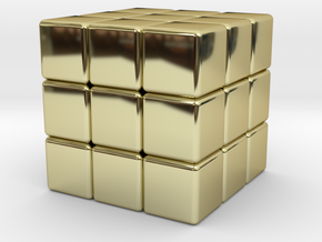 Twistopoly: 3x3x3 in 18K Gold Plated