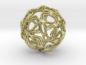 Sphere pendant in 18K Gold Plated