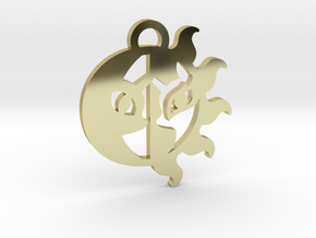 Medallion of Celestia and Luna in 18K Gold Plated
