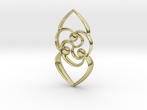 Celtic rose in 18K Gold Plated