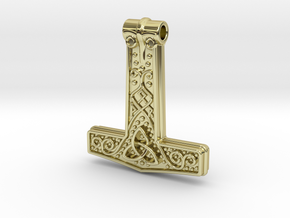 Thor hammer in 18K Gold Plated