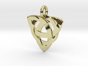 Celtic Knot Necklace Pendant (Inverted Triquetra) in 18K Gold Plated