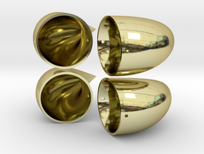 Small Horns - Double Set in 18K Gold Plated