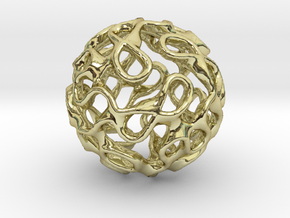 Gyroid Inversion Sphere in 18K Gold Plated
