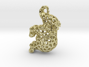Elephant Pendant in 18K Gold Plated