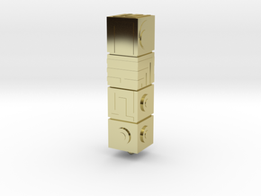 Monument Valley - The Totem keyring in 18K Gold Plated
