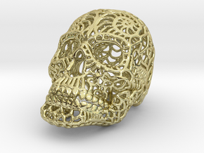 Nautilus Sugar Skull - SMALL in 18K Gold Plated