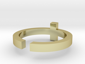 (USA) 10-3/4 Cross - Multiple Sizes in 18K Gold Plated