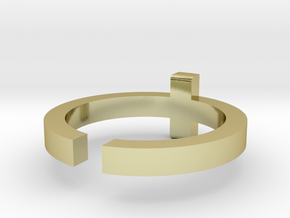 (USA) 9-1/2 Cross  - Multiple Sizes in 18K Gold Plated