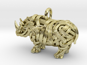 The Rhino Pendant  in 18K Gold Plated