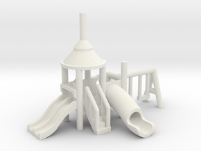 Spielplatz klein - 1:220 (Z scale) in White Natural Versatile Plastic