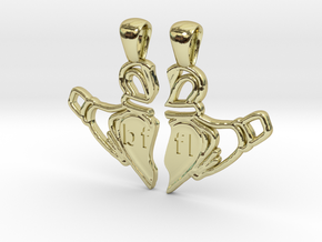 Claddagh Pendants 'Best Friends For Life' in 18K Gold Plated