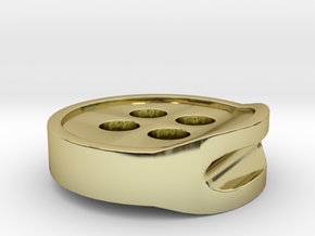 3D PRINTED HEADPHONE CABLE BUTTON CLIP 2.0 in 18K Gold Plated