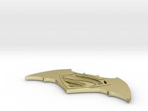 Batman vs Superman Logo in 18K Gold Plated