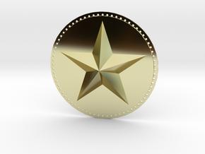 Captain America Upper Arm Star V2 in 18K Gold Plated