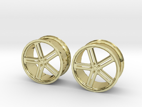 17 Inch Wheel in 18K Gold Plated