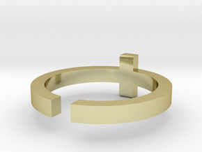 (USA) 11-1/2 Cross - Multiple Sizes in 18K Gold Plated