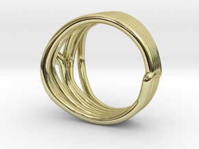 HeliX Kink Ring - 18 mm in 18K Gold Plated