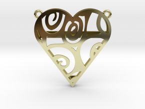 Coloured Heart in 18K Gold Plated